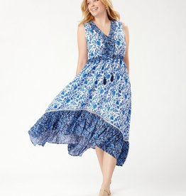 Woodblock Ruffle Dress