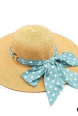 Judson & Co. Dot Scarf Beach Hat