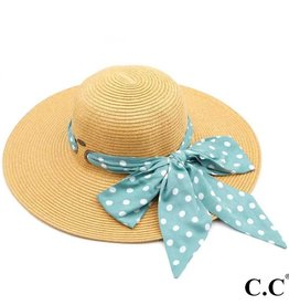 Dot Scarf Beach Hat