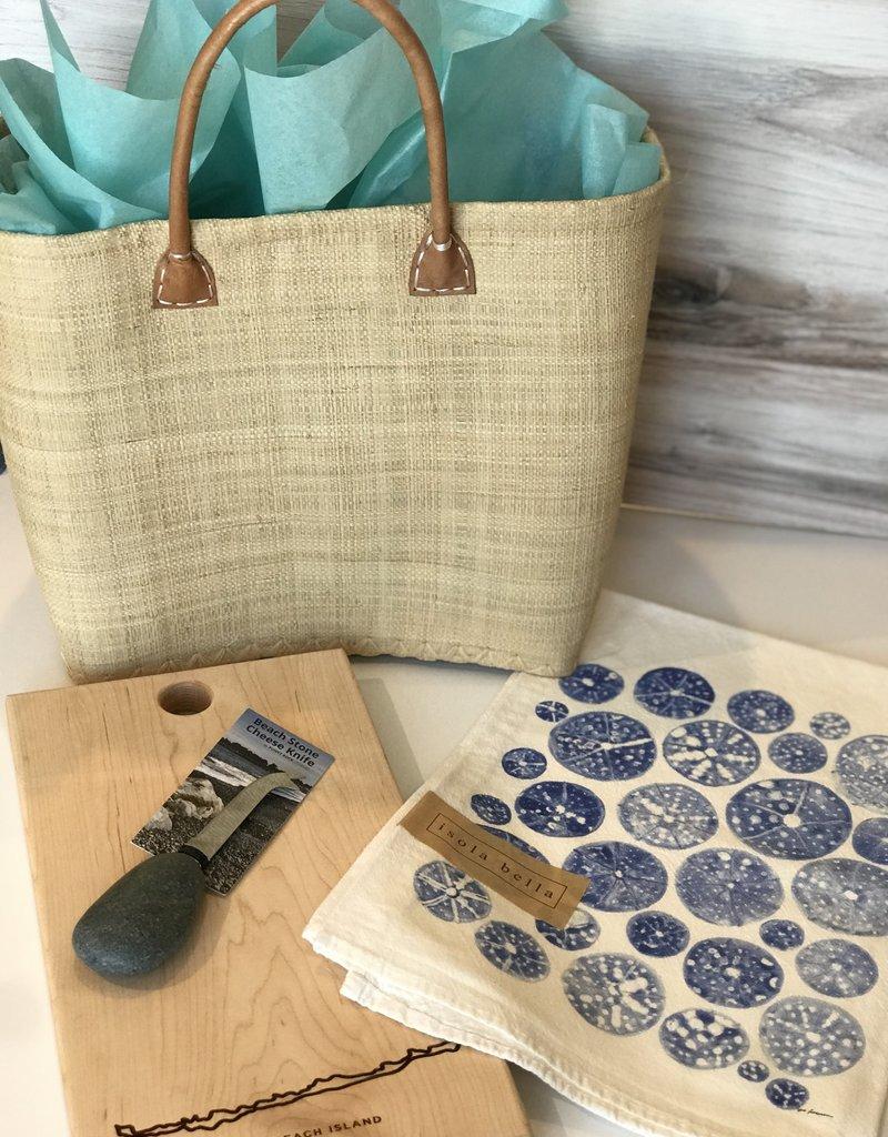 LBI Board, Cheese Knife & Tea Towel Gift Basket