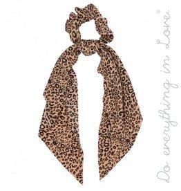 Leopard Scrunchie Scarf