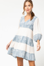 Paisley Patch Dress