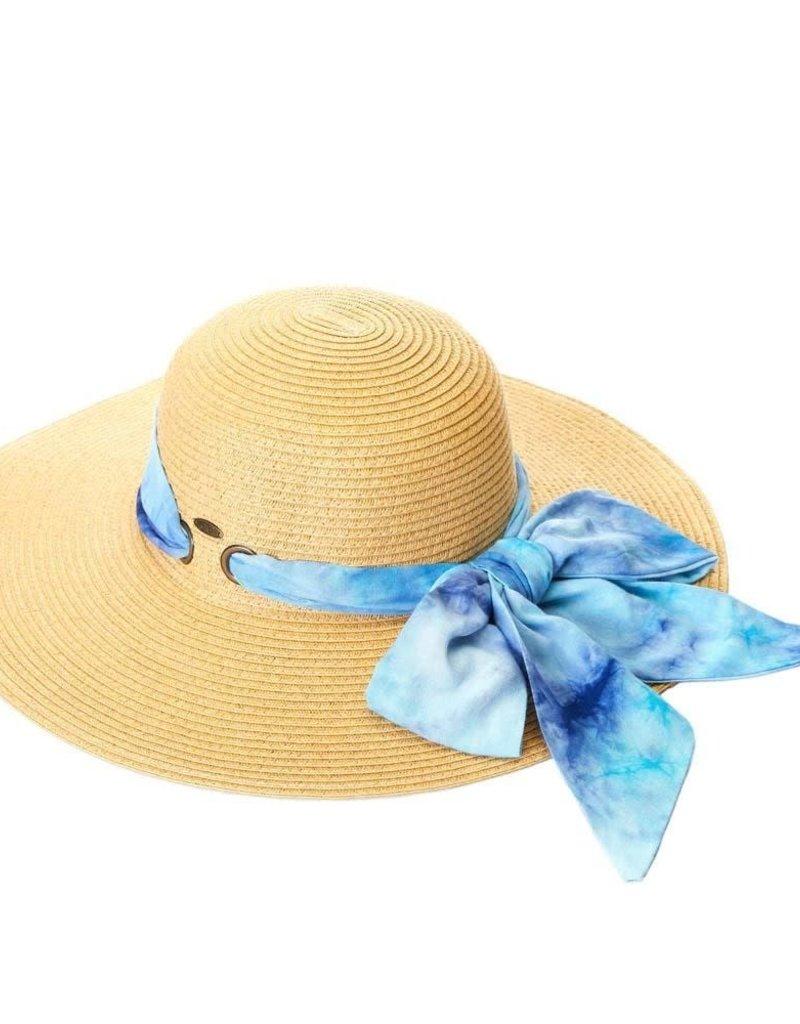 Tie Dye Scarf Beach Hat