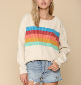 By Together Rainbow Stripe Sweater