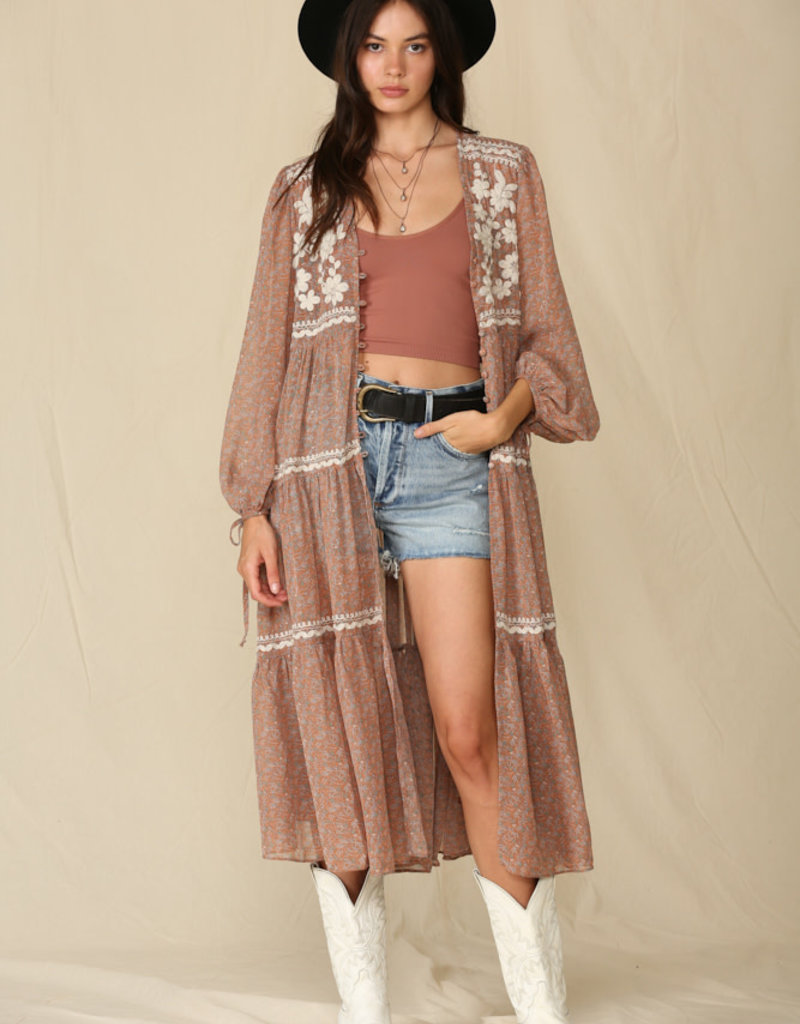Crepe Chiffon Duster/Dress