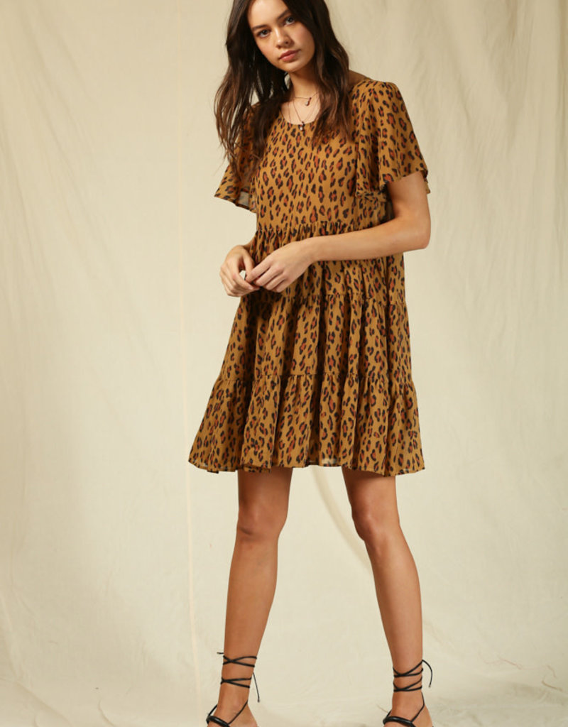 By Together Crepe Chiffon Baby Doll Dress