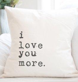 Indigo Tangerine I Love You More Cotton Canvas Pillow
