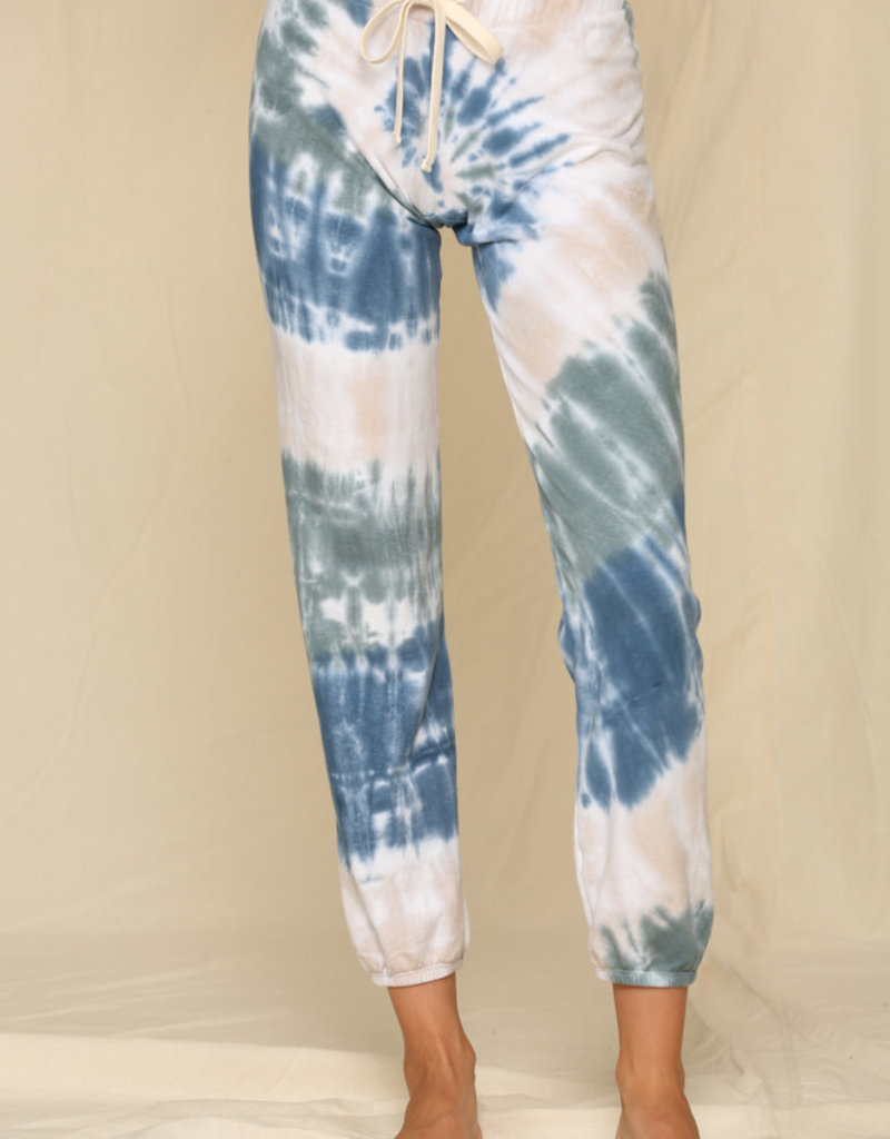 By Together Knit French Terry Spiral Tie Dye Pants