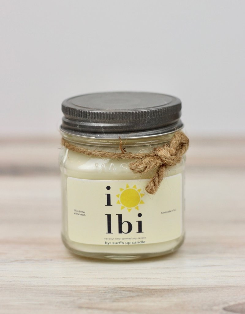 Surf's Up Candle LBI Sun Coconut Lime Candle