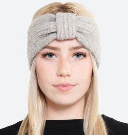 Fuzzy Soft Knit Bow Headwrap