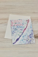 Ocean Minded Illustrations Watercolor LBI Card