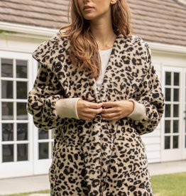 Hem & Thread Leopard Print Fur Jacket