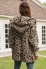 Hem & Thread Leopard Print Fur Jacket