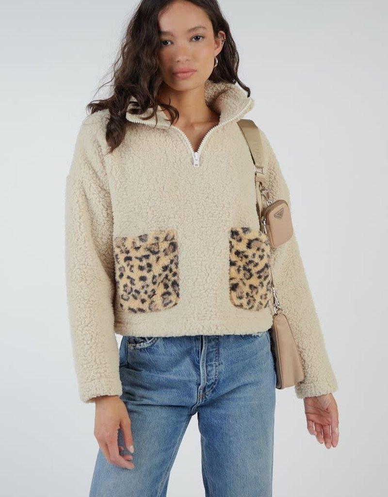 Sadie + Sage Teddy Leopard Pocket Jacket