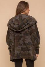 Hem & Thread Camo Print Teddy Coat