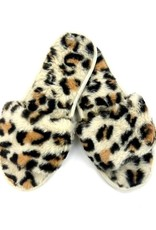 Judson & Co. Faux Real Leopard Plush Slipper (One Size 7.5-8.5)