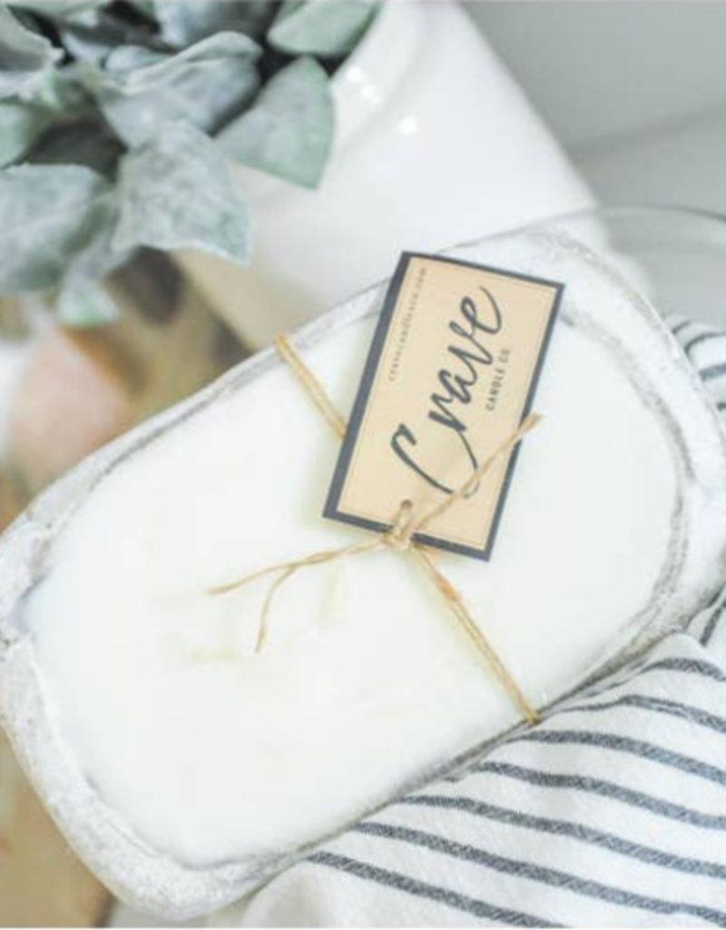 Crave Candle Co. White | Mini Dough Bowl Candle |