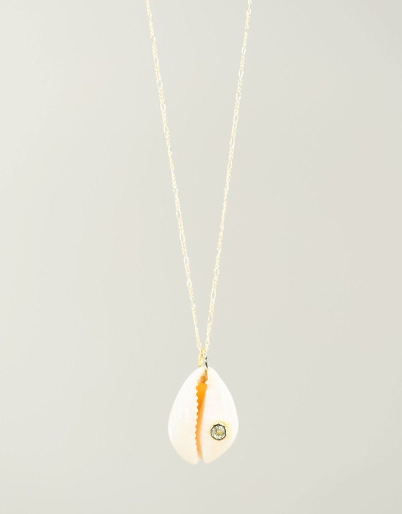 Silver Girl CZ Cowrie Necklace