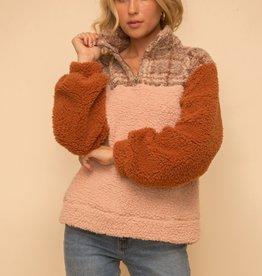 Hem & Thread Ami Half Zip Fleece Pullover