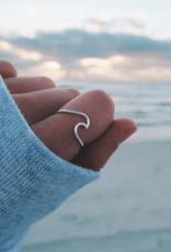 Pura Vida Wave Ring Silver