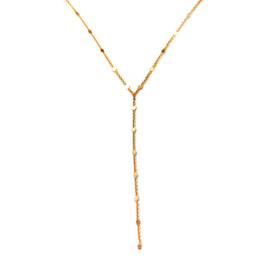 May Martin Samantha Lariat | 14K Gold Dipped Plating