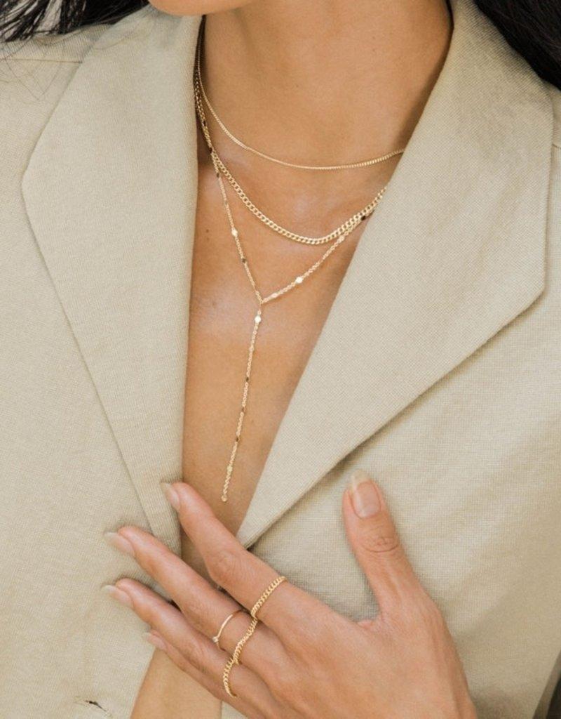 May Martin Samantha Lariat | 14K Gold Dipped Plating