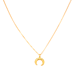 May Martin Mini Crescent Moon Necklace Gold Filled