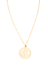 """May Martin Saint Christopher Coin Necklace Gold Filled 18"""""""