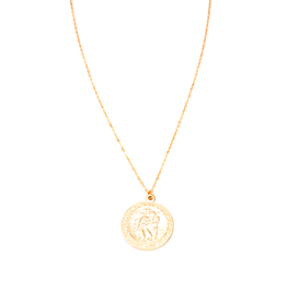 May Martin Saint Christopher Coin Necklace Gold Filled 18""