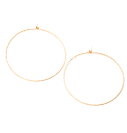 "May Martin Large Sparkle 1.75"" Gold Filled Hoops"