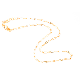 "May Martin Link Chain Choker 12"" Gold Filled"
