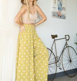 Bucketlist Lillian Smocked Wide Leg Pants