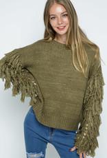 Blue B Blakely Fringe Sleeve Sweater
