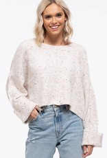Blu Pepper Clara Confetti Crop Sweater