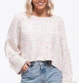 Blu Pepper Clara Confetti Crop Sweater