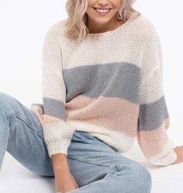 Blu Pepper Leah Color Block Sweater