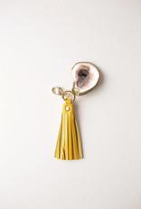 Grit & Grace Oyster Tassel Key Chain