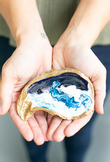 Grit & Grace Ocean Gilded Oyster Jewelry Dish