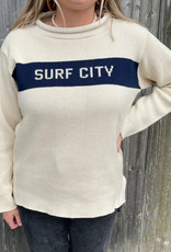 Binghamton Knitting Surf City Roll Neck Sweater | Marine Blu