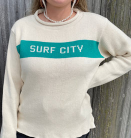 Binghamton Knitting Surf City Roll Neck Sweater | Jade