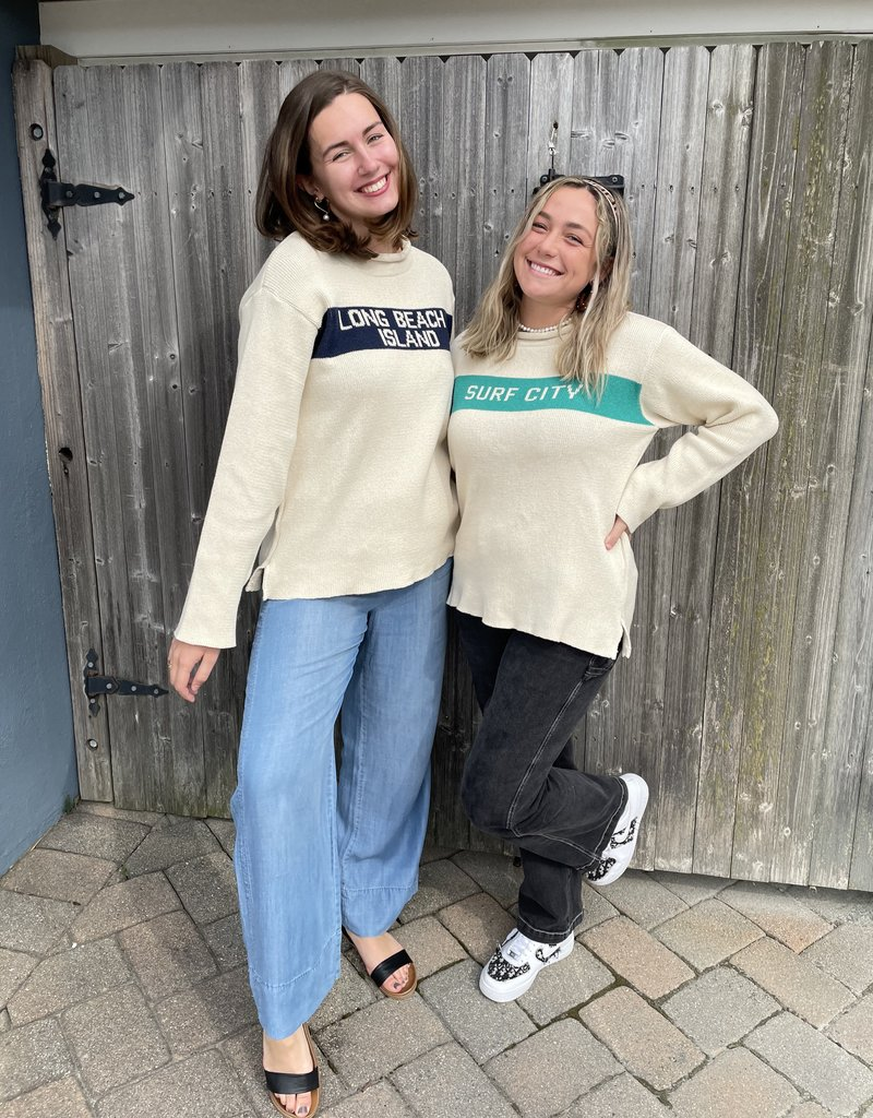 Binghamton Knitting LBI Roll Neck Sweater | Jade