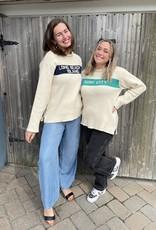 Binghamton Knitting LBI Roll Neck Sweater   Blu Marine