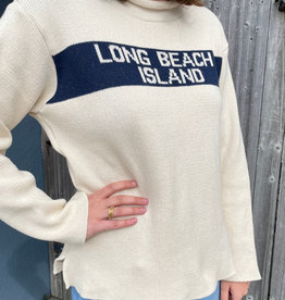 Binghamton Knitting LBI Roll Neck Sweater | Blu Marine