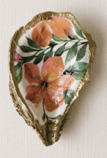 Grit & Grace Decoupage Oyster Jewelry Dish - Tropical