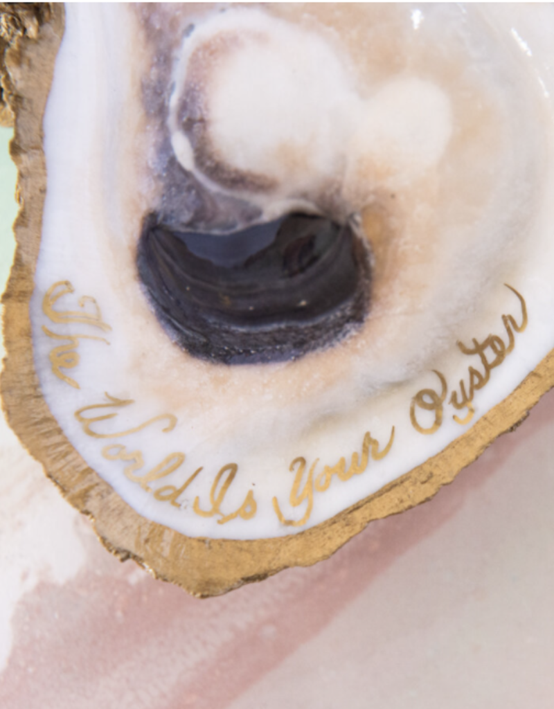 Grit & Grace The World Is Your Oyster Jewelry Dish