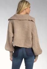 Elan V-Neck Open Collar Sweater