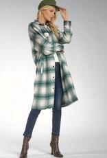 Elan Long Flannel Shacket