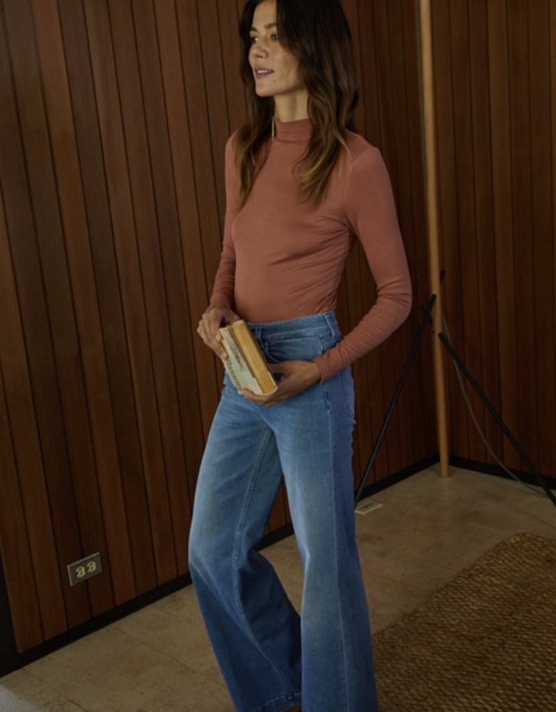 By Together Morgan Mock Neck Long Sleeve Top