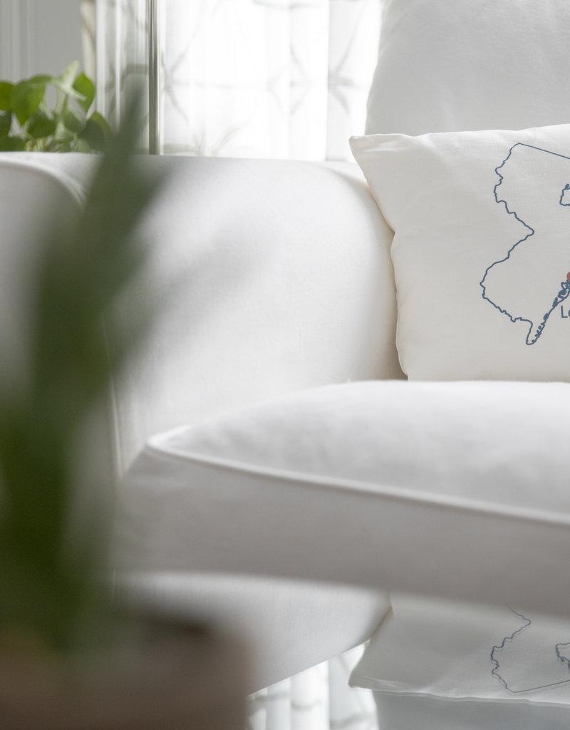 Wildwood Landing Mini LBI Pillow w/ Heart | Linen