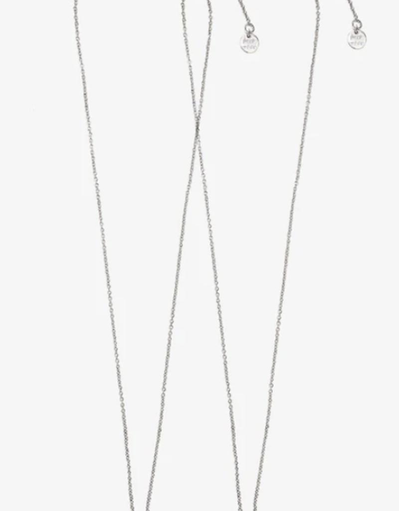 Pura Vida Bff Avocado Necklace Set Silver